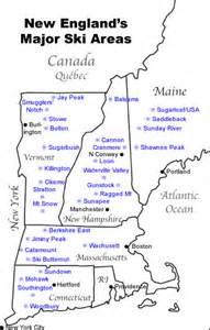 us east coast ski resorts map map of major new ski resorts