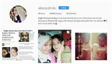 instagram erra fazira showbiz all eyes on aleesya s ig especially mom erra