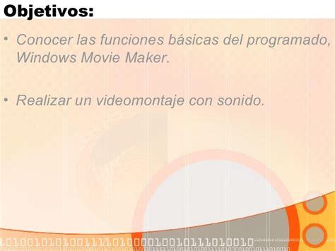 tutorial de windows movie maker 2 6 en español tutorial de windows movie maker