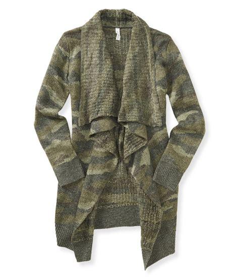 Sweater Camo Aeropostale Womens Camo Open Front Cardigan Sweater 180 Xs