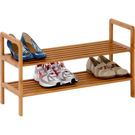 Mainstays 4 Tier Shoe Rack by Mainstays 10 Tier Rolling Shoe Rack Silver Black