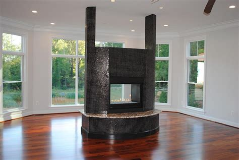 two sided gas fireplace home