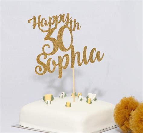 personalised   age birthday cake topper pomchick