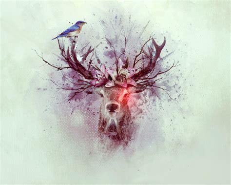watercolor deer tutorial create a watercolor deer artwork photoshop tutorials