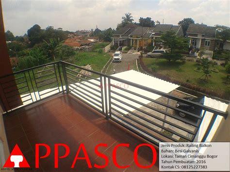 Railing Balkon Minimalis di Cimanggu Bogor   Jual Kanopi