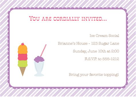 New Release Thursday Ice Cream Social Party Pack Emmy Gabbie Paperstyles Fabulously Cute Social Invitation Template