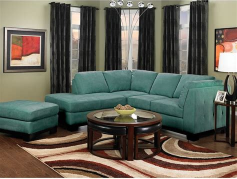 microsuede living room furniture living room furniture oakdale 2 microsuede sectional w left facing chaise azure