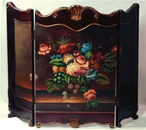painted fireplace screen screens