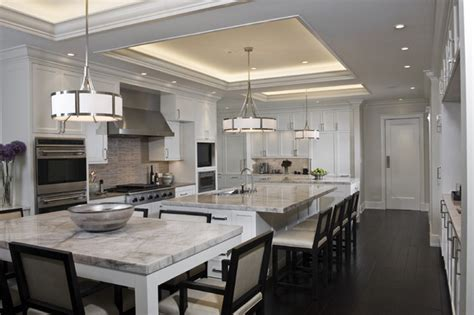 Hanging Kitchen Cabinets From Ceiling by A Classic Kitchen Contemporary Kitchen Chicago By