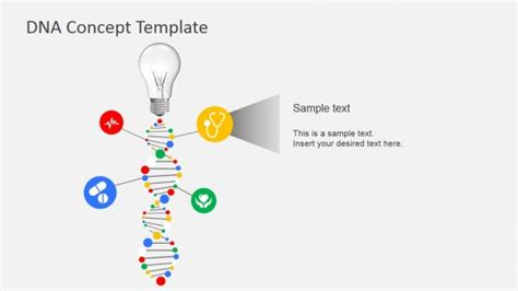 template dna dna concept design for powerpoint slidemodel
