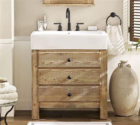 Reclaimed Bathroom Vanity by Reclaimed Wood Single Sink Vanity Wax Pine Finish