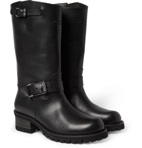 leather biker style boots lyst belstaff fulham leather biker boots in black for men