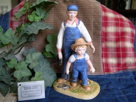 home interiors homco denim days quot horseshoes quot figurine w