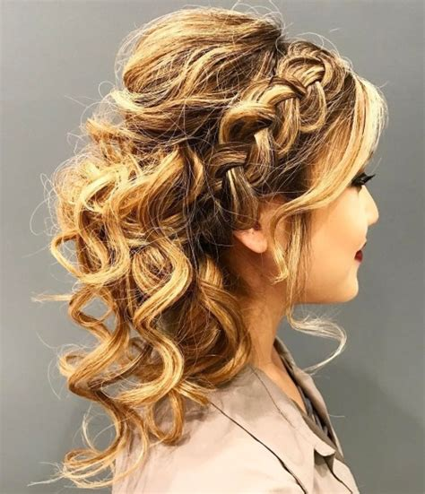 curly hairstyles updos braids 40 creative updos for curly hair