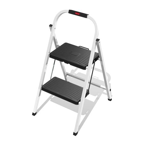 Rubbermaid Folding Step Stool Lowes by Shop Rubbermaid 2 Step Steel Step Stool At Lowes