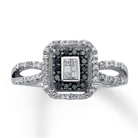 black and white wedding ring black wedding