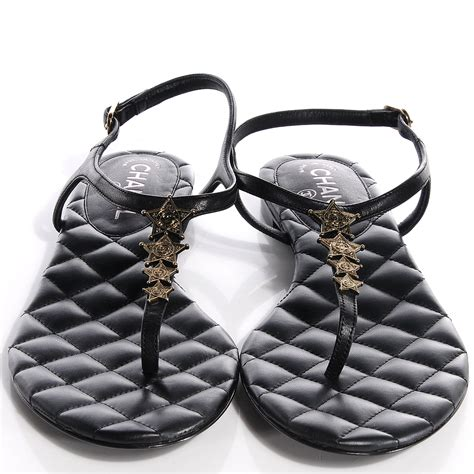 sandals chanel 1128 39 chanel calfskin dallas quilted cc sandals