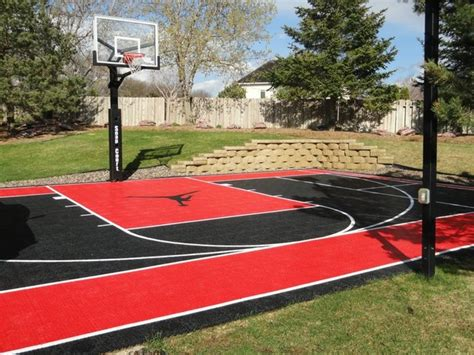 custom snapsports backyard basketball court