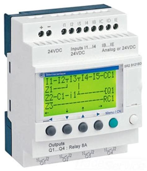 Zelio Logic 12 Io Sr2b121jd 12vdc Original Schneider 1thn Garansi square d sr2b121jd zelio sr2 12 i o 12vdc w display gordon electric supply inc