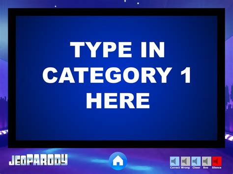 jeopardy powerpoint template with sound our western tradition mr smith s gboard