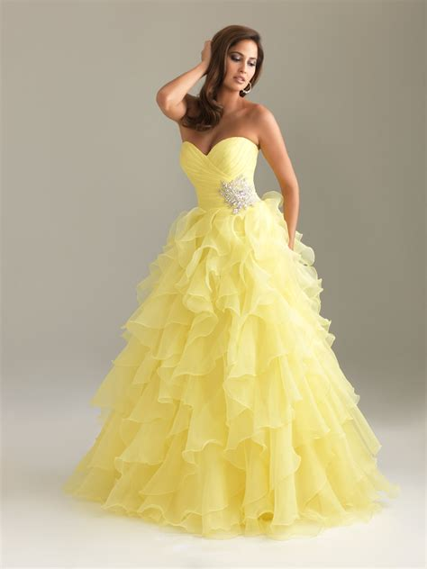 Yellow wedding dresses ruffled dress journal