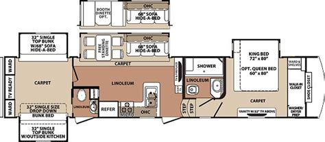 5th wheel bunkhouse floor plans blue ridge fifth wheel by forest river 3710bh bunk house