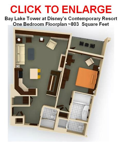 bay lake tower one bedroom villa floor plan how small are the 1br villas at blt the dis disney