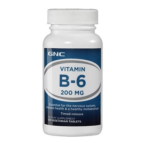 Gnc Ky by Gnc Vitamin B6 200 Mg 100 Vegetarian Tablets
