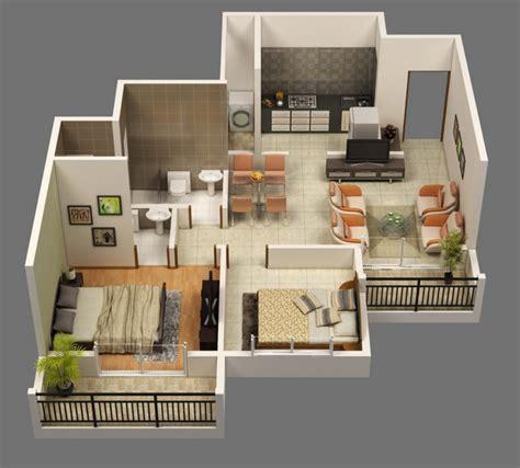 small two bedroom house planos de apartamentos en 3d dise 241 os modernos construye