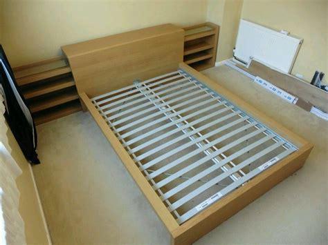 ikea malm headboard with storage ikea malm bed frame optional storage cabinets oak veneer ebay home