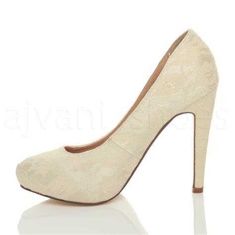 womens high heel concealed platform court shoes