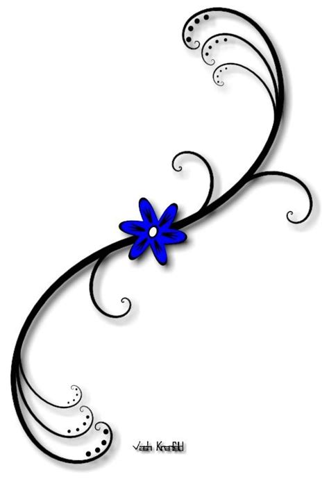 small flower vine tattoos small flower tattoos blue flower with vine by