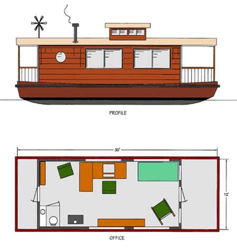 home office house boat boat plans boat designs