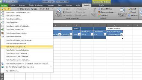 nodexl tutorial c 243 mo hacer an 225 lisis de redes de twitter usando nodexl