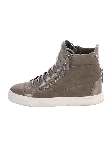giuseppe shoes giuseppe zanotti suede high top sneakers shoes