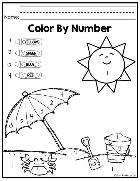 preschool coloring pages color green on my way to k summer practice pack number summer