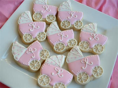cookie favors for baby shower baby shower cookies 1 dozen baby stroller by sweetartsweets
