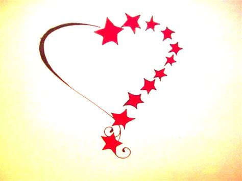 stars and heart tattoos designs and hearts clipart best