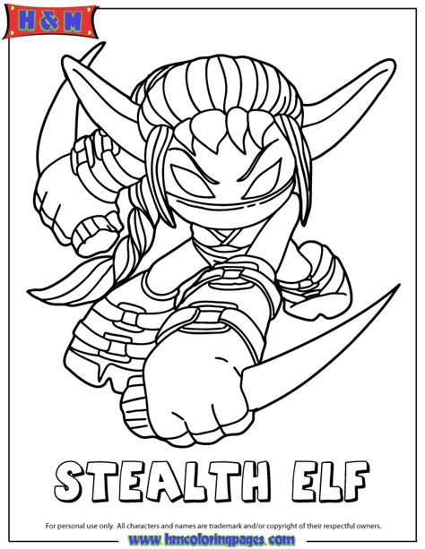 Skylanders Spyros Adventure Life First Edition Stealth Elf Skylander Boy And Coloring Pages