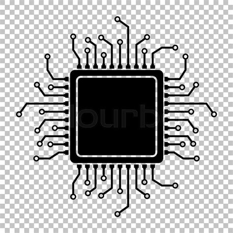 Graphics Design Jobs At Home by Cpu Microprocesso Flat Style Icon On Transparent