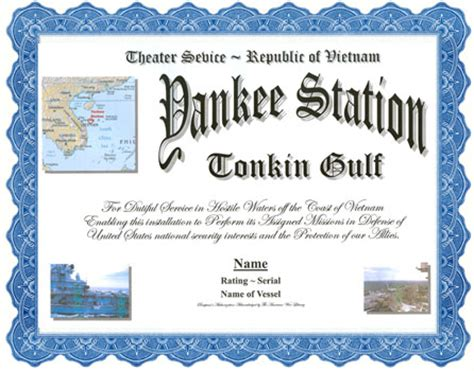 yankee station; tonkin gulf service display recognition
