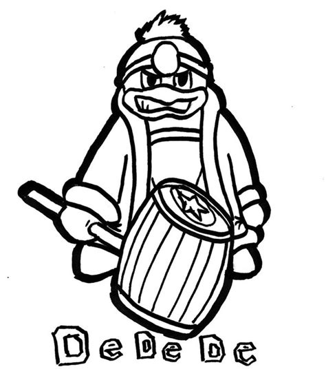 king dedede coloring page king dedede free coloring pages