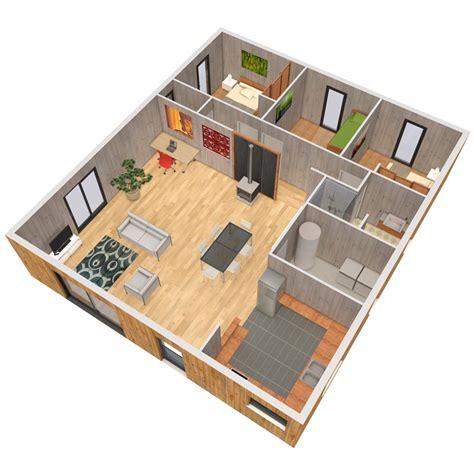 Plan Feng Shui Maison 2973 by Verticama Construction De Maison En Bois Massif Maison
