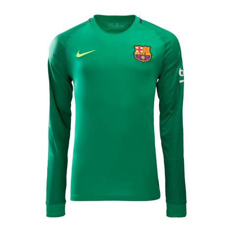 barcelona 16 17 sleeve green goalkeeper soccer jersey