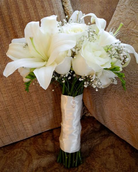 And White Flower Bouquet For Wedding by The Flower White Bridal Bouquet