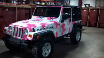 pink jeep rubicon forever pink
