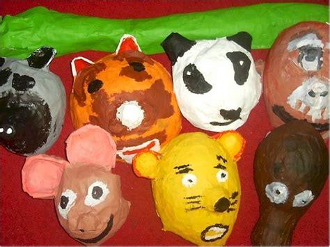 Paper Mache Crafts For Preschoolers - paper mache animal masks lesson plan sculpture activities