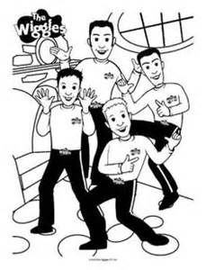 the wiggles coloring pages 1000 images about wiggles birthday ideas on