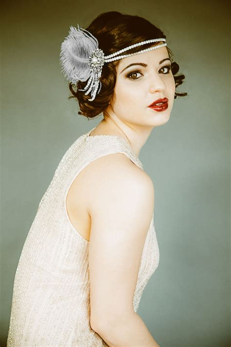 Unique Roaring 20s Head Pc | flapper headband headpiece bridal hairpiece the great