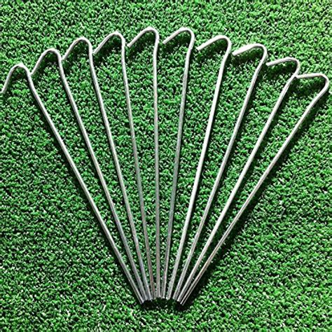 Garden Stakes by Alazco Galvanized Steel Tent Pegs Garden Stakes Heavy